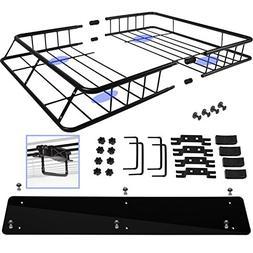 Marketworldcup-Universal Cargo Roof Top Rack Carrier Basket