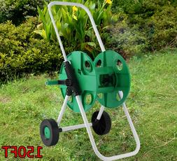 Hose Reel Mobile Rolling Cart Storage Holder Outdoor Garden