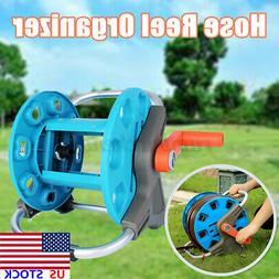 US Portable Garden Water Pipe Hose Reel Cart Outdoor Patio Y