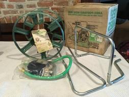 Vintage new in box Ames metal hose reel Wheel Green home law