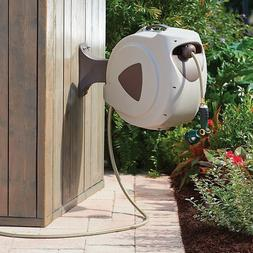 wall mountable retractable hose reel outdoor watering