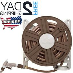 Wall Mounted Garden Water Hose Reel Holder Extension Cord St