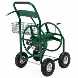 water hose reel cart w basket