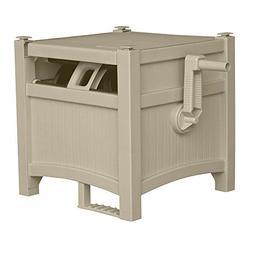 Water Hose Reel Box Outdoor Hoses Holder Storage Durable Gar