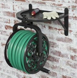 Water Hose Reel Wall Mount Metal Decorative Rotating 125 Fee