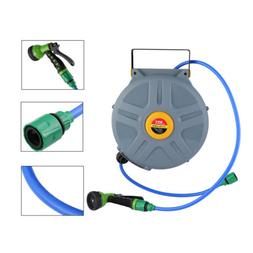 Water Retractable Hose 50 Feet Cable Reel Hybrid Polymer Spr