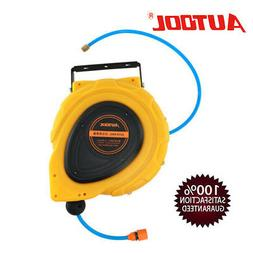 Autool Water Retractable Hose 50 Feet Cable Reel Gun Wash Fo