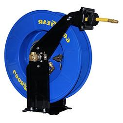 Goodyear Steel Spring Driven Air Hose Reel — With 3/8in. x