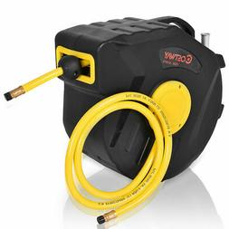"3/8"" X 50' Retractable Auto Rewind Air Compressor Hose Reel"